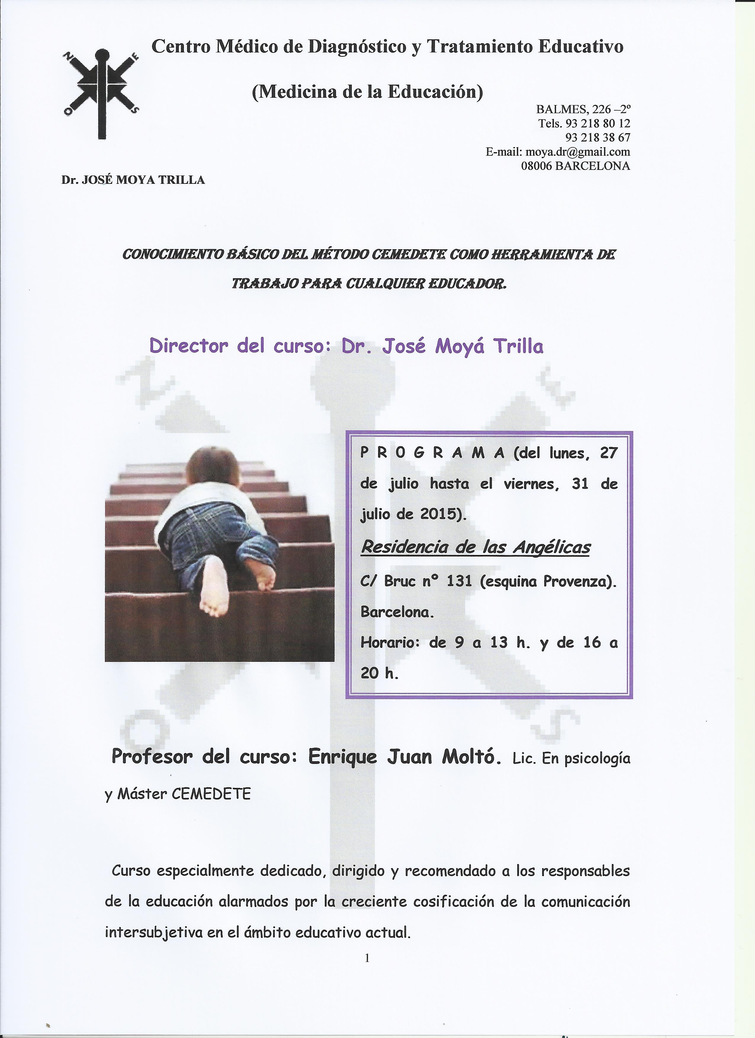 Cartel curso cemedete verano 2015